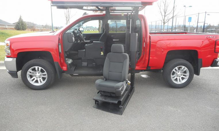 red-accessible-truck